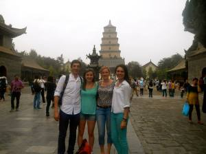 In the grounds of the Big Wild Goose Pagoda