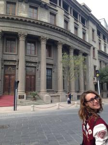 Milly admiring the architecture