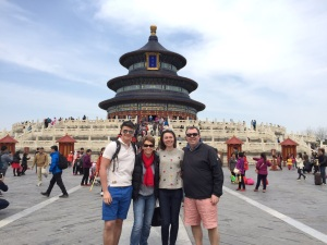 Family shot in front of the Temple of Heaven