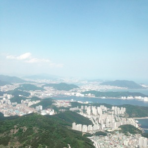 The view of Busan on my way into South Korea