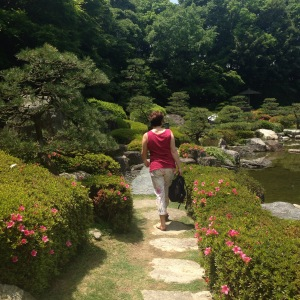 Enjoying the Japanese Garden
