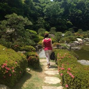 Enjoying the Japanese Garden
