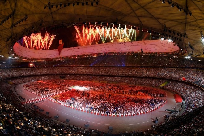 Opening Ceremony for the Beijing 2008 Olympic Games at the National Stadium