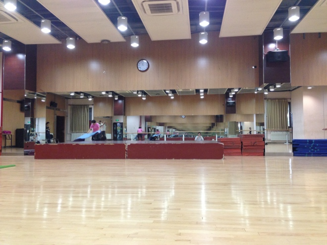 Where our exercise classes took place